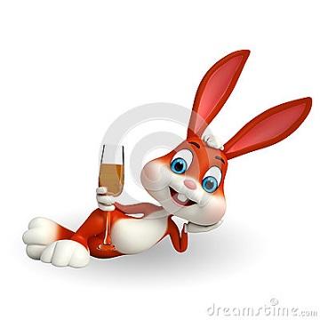 lapin-de-pâques-mignon-avec-le-verre-de-vin-39057618
