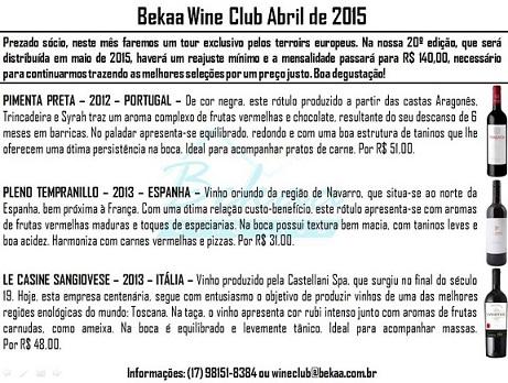 bekaa wine